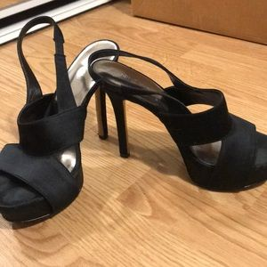 Nine West Black Heels w/ Platform